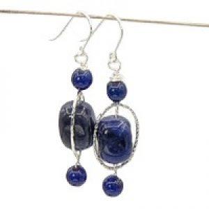 sodalite blue stone earrings