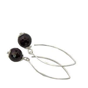 red garnet gemstone earrings