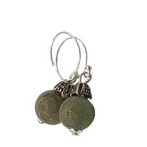 green imperial jasper earrings