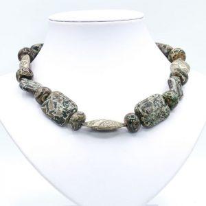 jasper beaded brown necklace (1)