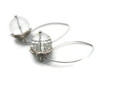 silver rhinestone earrings dangle