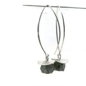 green serpentine earrings silver