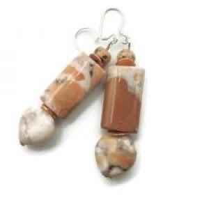 orange jasper earrings statement
