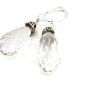 silver rhinestone earrings drop