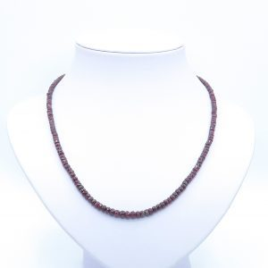 beaded red ruby necklace