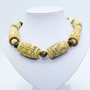 brown tiger eye necklace statement
