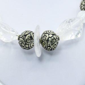 silver rhinestone necklace statement