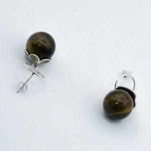 tiger eye earrings studs