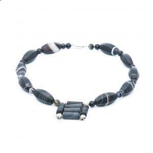 black gemstone choker necklace