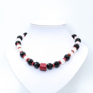 black and red onyx necklace