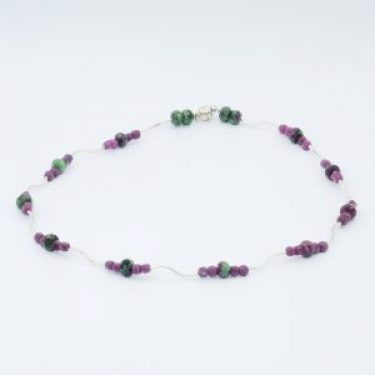 red ruby necklace lightweight