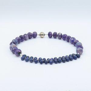 purple amethyst necklace statement