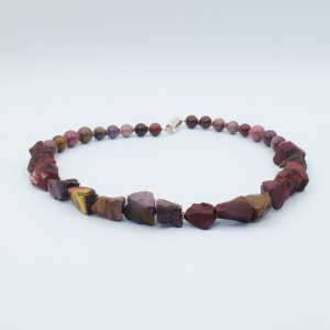 raw red stone necklace