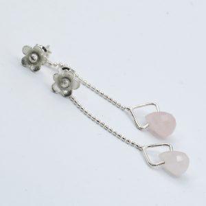 rose quartz earring jackets for studs (1)