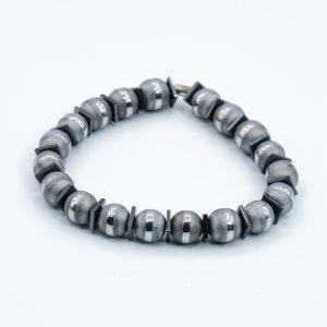 hematite bead bracelet silver