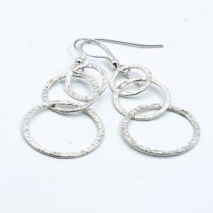 simple sterling silver dangle earrings