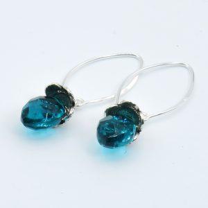 long blue quartz earrings