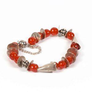 orange carnelian silver bracelet