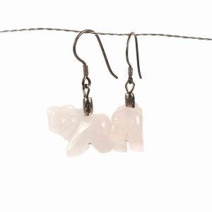 light pink elephant earrings