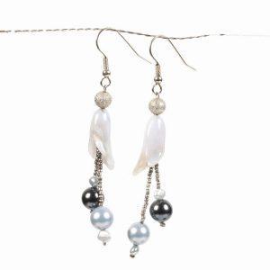 long light blue chalcedony earrings
