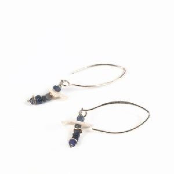 blue sapphire earrings pearls