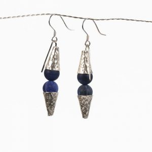 lapis lazuli earrings silver