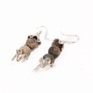 jasper stone earrings