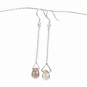smoky quartz earrings sterling silver (1)