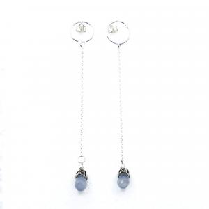 long light blue earrings studs