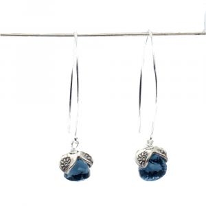blue quartz earrings dangle