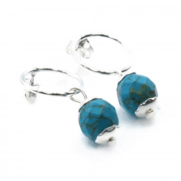 small blue jasper earrings