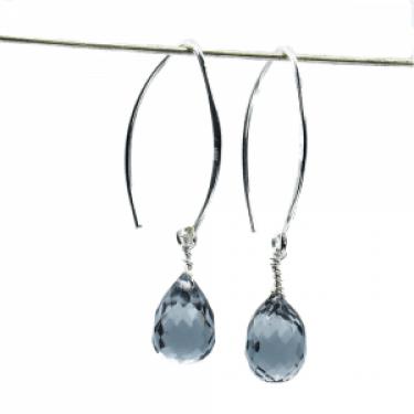 light gray quartz earrings