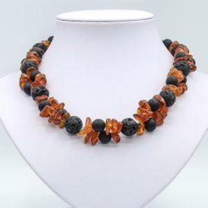 black orange onyx necklace