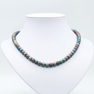blue gem hematite necklace