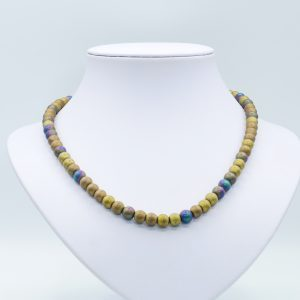 brown hematite choker necklace