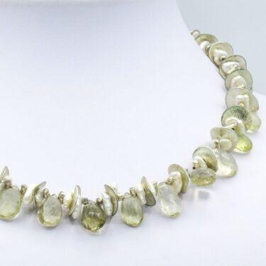 yellow citrine necklace