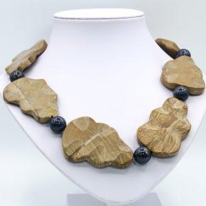 light brown statement necklace