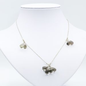 minimal smoky quartz necklace