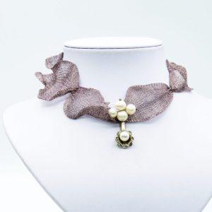 titanium band pearl necklace