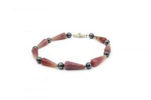 pink red agate necklace (1)
