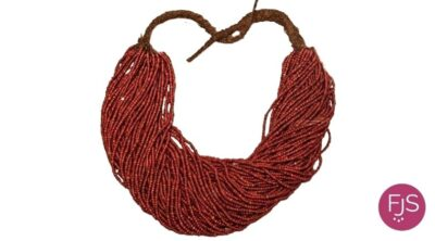 red sea coral in a very old necklace Yemen 400x222 1