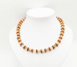 goldstone rose gold necklace
