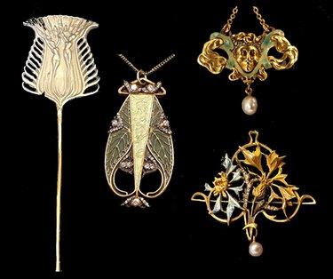 Art Deco jewelry made by jewelry designer René Lalique