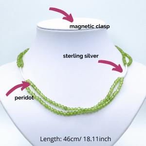 green peridot necklace lightweight