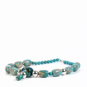 turquoise statement jasper necklace