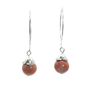 coral jade earrings