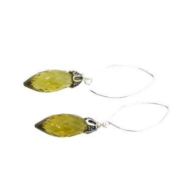 olive green earrings