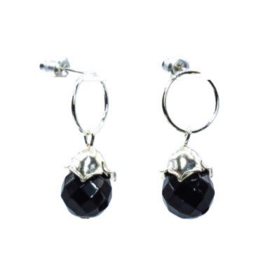 onyx stud earrings